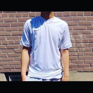Nike white soccer Dri-fit tee!!